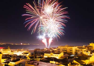 Fireworks over Lagos - View from our roof terrace 2014/15