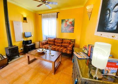 Das Wohnzimmer der Casa Amendoeira
